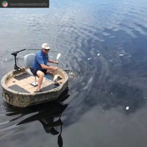 • • • • • This goes to show you that the Roundabout can be paddled. Most of th
