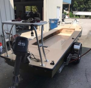 @skiffshop doing what they do best! Fixed up some oyster rash & installed a new …