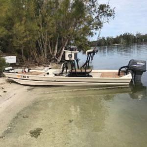 Dustin Wayne Tooles skinny water boat.