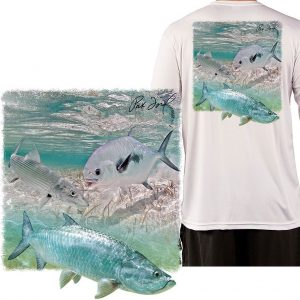 New photography by Pat Ford on our BEST QUALITY shirts… Pelagic or Inshore Slam?…